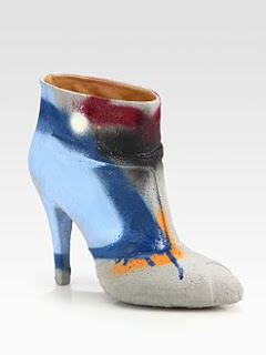 Neiman Marcus Graffiti Ankle Boots