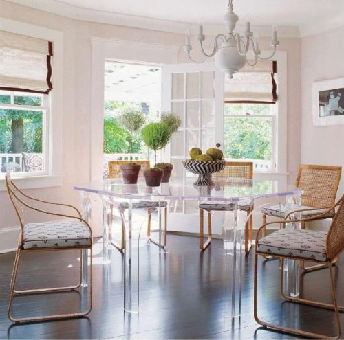 Lucite+dining+table