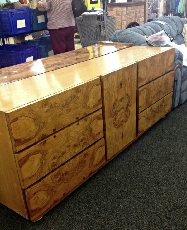 . Thrift Fabulous   Trending  Burl Wood Furniture