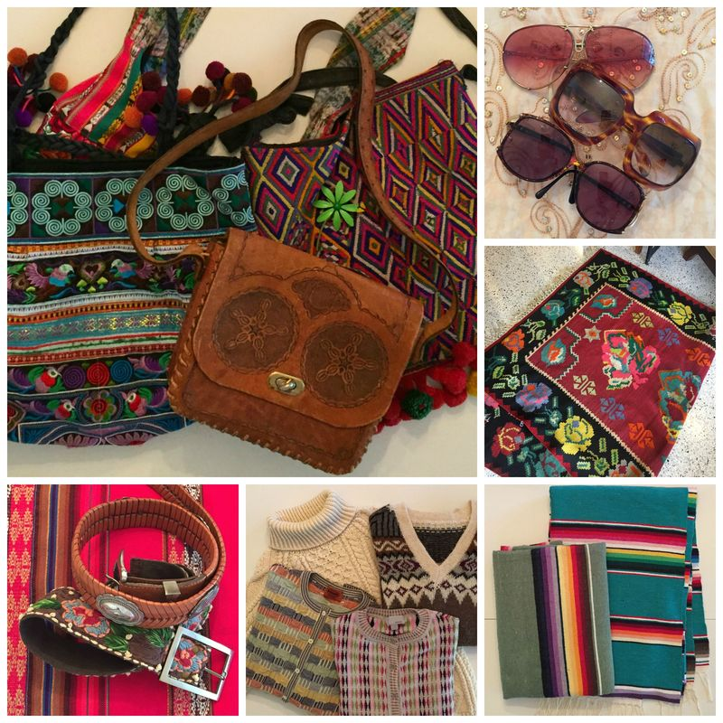 BOHO CHIC COLLAGE WITH SUNGLASSES