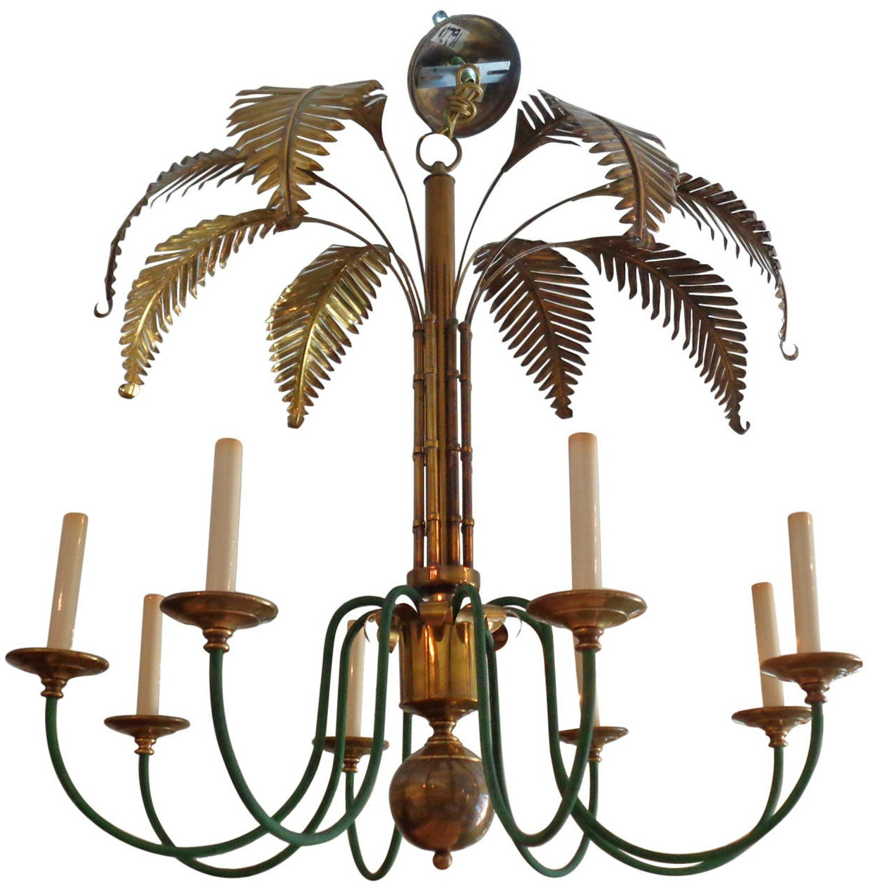 Thrift fabulous thrift fabulous find palm frond chandelier heres a great chandelier we found on one of our scouting trips below are ideas of how to style your own home with a decorative palm chandelier aloadofball Images